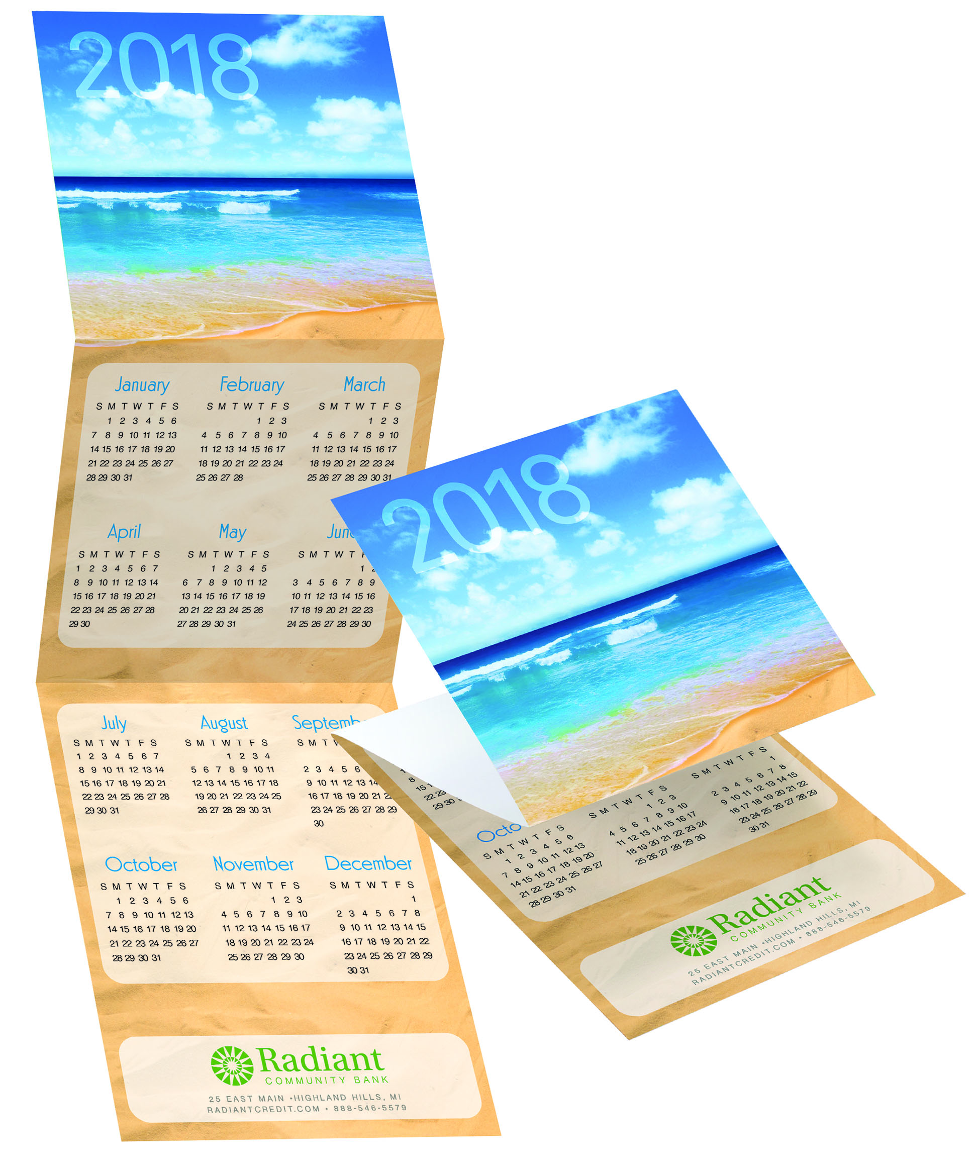custom beach calendar Warwick Publishing