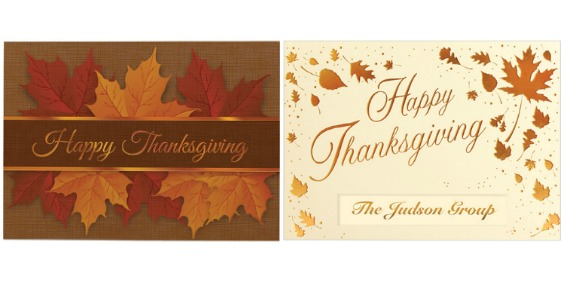 custom thanksgiving cards